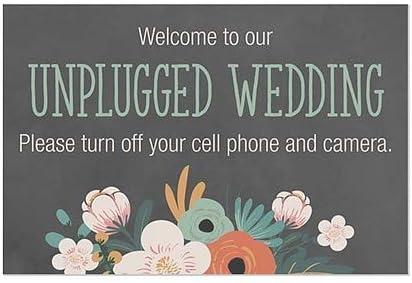 36x24 CGSignLab Unplugged Wedding Window Cling 5-Pack