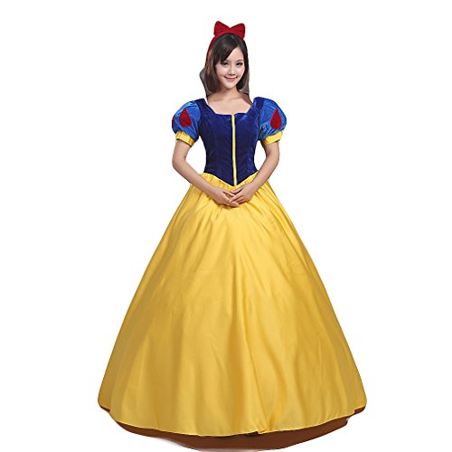 Halloween Costume Adult Women's Teens Movie Princess Deluxe Cosplay Dress Full Set (Customized-Size, Only (Princess Tiana Costume For Teenagers)