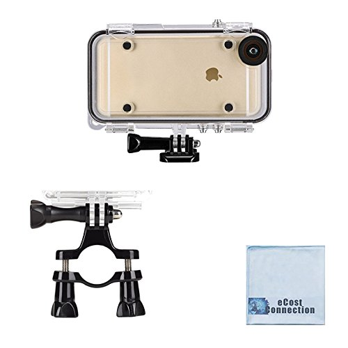 eCostConnection Extreme Sports Waterproof Case for iPhone 6,6S + Handlebar & Seatpost Mount for Bikes + Microfiber Cloth