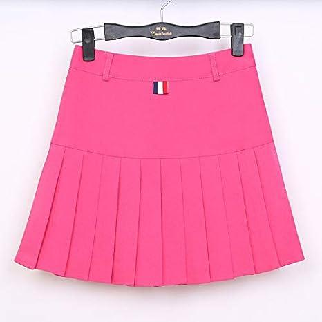 GDNTCJKY Faldas para Mujer Falda Plisada Cintura Alta Color Sólido ...