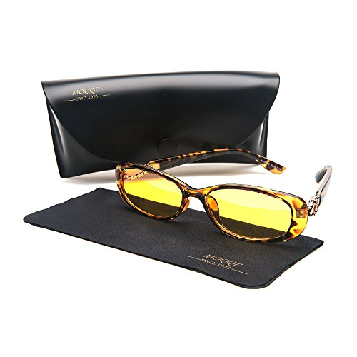 Anti-Blue Light Night Vision Glasses Radiation Protection Fashion Oval Small Driving Sunglasses for - For Best Face Eyeglasses Oval