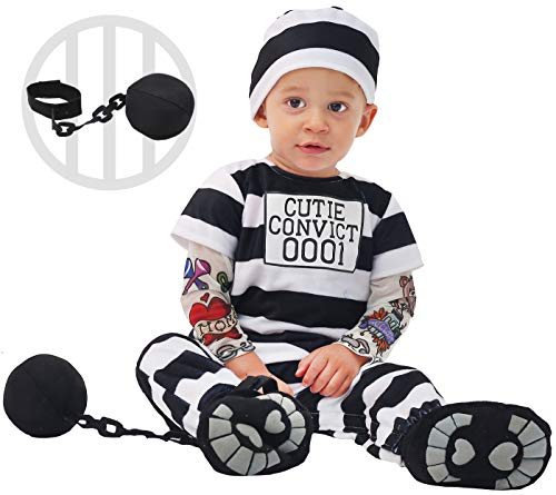 Police And Criminal Halloween Costumes (Spooktacular Creations Baby Prisoner Costume (12-18 Months))