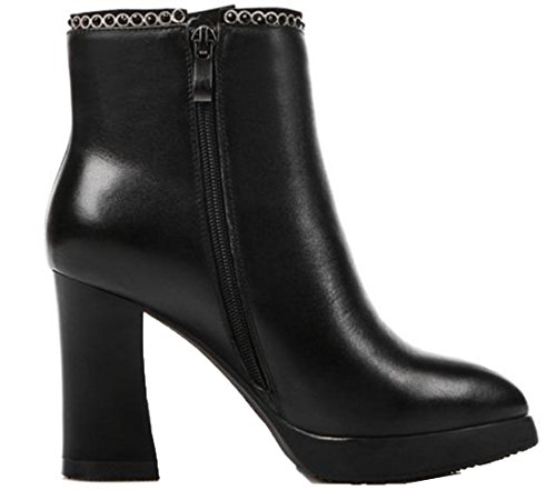 Laruise Women's High-heel Martin Boot Black LdObU1cX