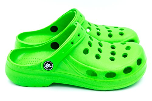 FLAMEshoes Women's A-002 Clogs Green MVtkDqld