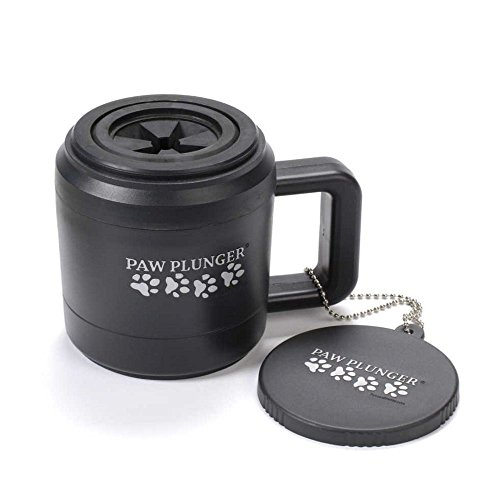 Paw Plunger For Dogs - Portable Paw Cleaner For Medium Sized Dogs - Ideal For Dogs Weighing 15-75lbs - an Easy To Use Device To Save Your Home / Furniture / Carpet / Vehicle From Muddy Paws - Black