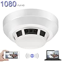 DareTang WIFI Hidden Camera Smoke Detector ,1080P HD Spy Camera Night Vision Activated Video Recording Security Cameras with Motion Detection