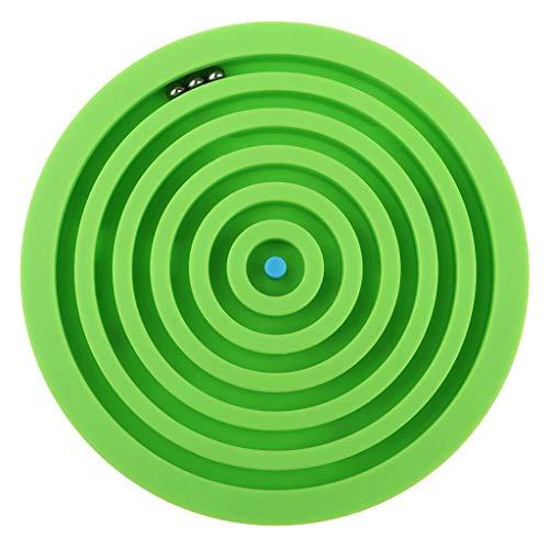 KESOTO 迷路ゲーム 知性 パズル ボールゲーム 迷宮おもちゃ 脳ティーザー 教育おもちゃ 全3色 - 緑