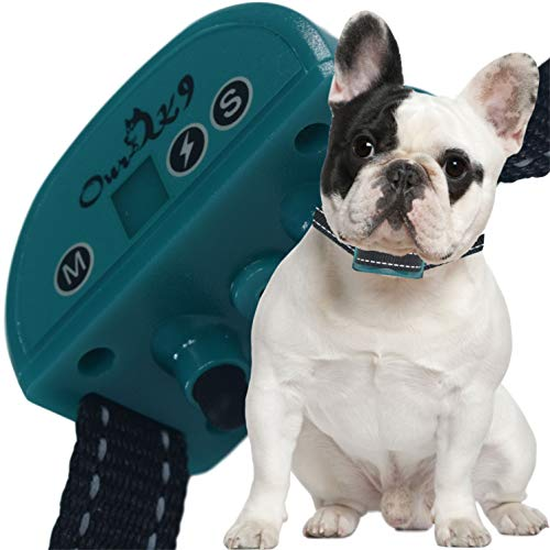 Our K9 Training Made Easy - Bark Collar - Sound (Beep) or Silent (Ultrasonic) & 7 Levels of Adjustable Vibration or Shock, Pain-Free and Ultra Safe Teal