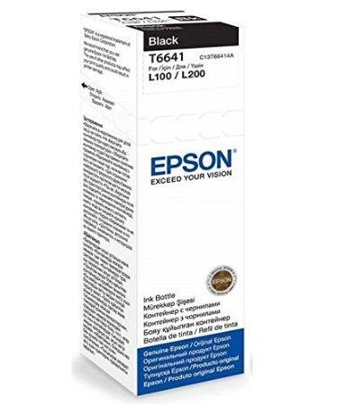 Epson 6641 Black Ink Bottle - 70 ml