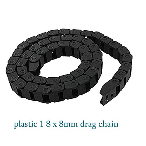 Ochoos 8 x 8mm L1000mm Cable Drag Chain Wire Carrier with end connectors for CNC Router Machine Tools