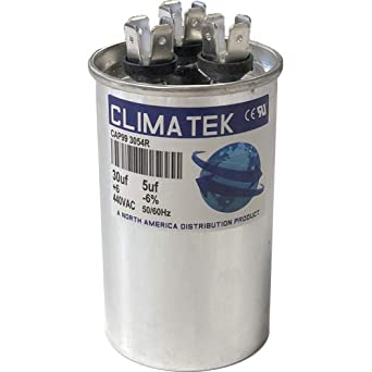 40//5 uf MFD 370//440 Volt VAC fits Armstrong # R38514D005 ClimaTek Round Capacitor