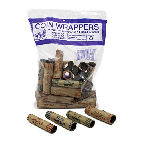 Assorted Pre-Formed Coin Wrappers (36 Pieces)