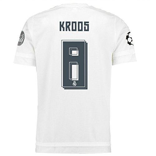 ゾーン側テザー2015-2016 Real Madrid UCL Home Shirt (Kroos 8)