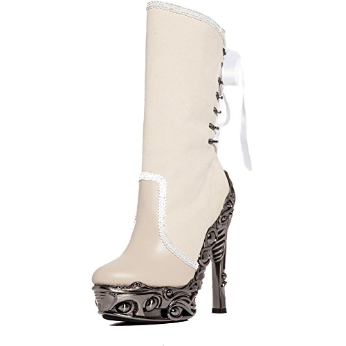 Hades Analia High Heel Boot White/Silver 1XJbw