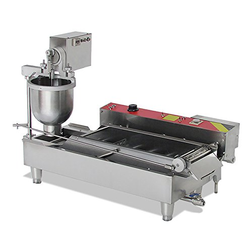 Genmine Automatic Donut Making Machine Commercial Electric Auto Doughnut Donut Maker Machine Auto Donuts Frying Molding Turning Collecting Fryer Factory 110V (Can Making 3 Sizes Donut) by Genmine (Image #4)