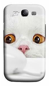 Samsung S3 Case Curious Cat 3D Custom Samsung S3 Case Cover