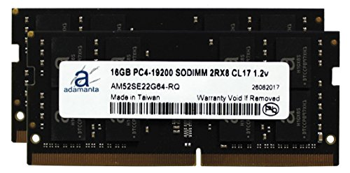 Adamanta 32GB (2x16GB) Laptop Memory Upgrade for Lenovo Thinkpad & ThinkCentre DDR4 2400Mhz PC4-19200 SODIMM 2Rx8 CL17 1.2v RAM DRAM
