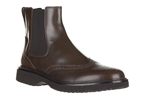 Hogan stivaletti stivali uomo pelle h217 route marrone