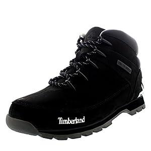 Timberland Mens EURO Sprint Hiker Black Walking Leather Ankle Boot - Black - 8.5