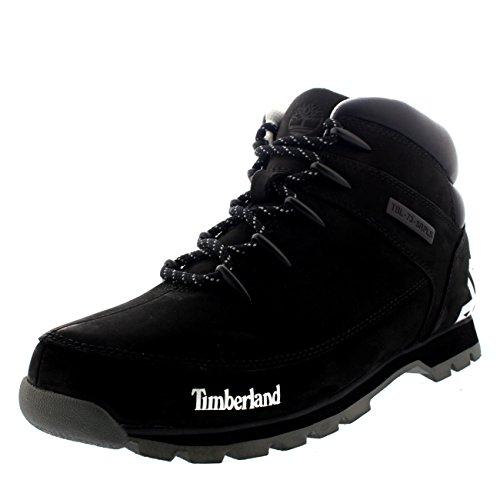 Mens Timberland Euro Sprint Hiker Black Walking Leather Ankle Boot - Black - 9.5 (Timberland Euro Hiker Black)