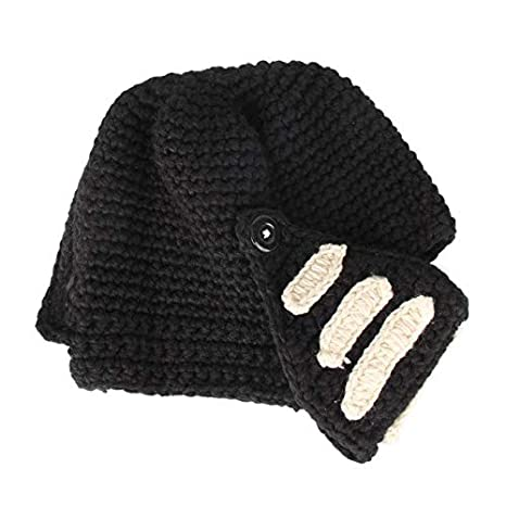 Sala-Sportswear - New Novelty Roman Knight Helmet Caps Cool Handmade Knit  Ski Warm Winter Hats Funny Party gift Mask Beanies Cycling Caps - -  Amazon.com 3c28208d2ba