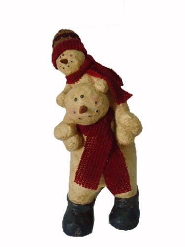 craft-outlet-papier-mache-snowman-plays-figurine-11-inch