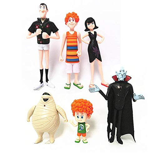 Qukueoy 6pcs Action Figures from Movie Hotel,Mavis Bat Playset for Kids Gifts Collection,Include Dracula,Mavis,Jonathan,Vlad,Murray and Dennis for $<!--$17.90-->