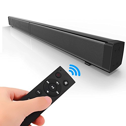 JIATENG Soundbar 4.0 Wireless Bluetooth Speakers and Wired Stereo Speakers to Connect Cell Phones / TV / PC / Phones, Remote Control Wall Mount TVs Home Theater Speakers and More (Black)