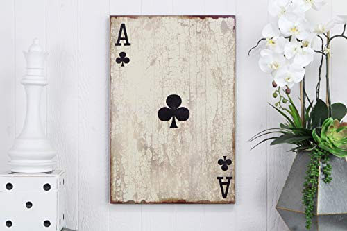 Cheung's FP-3677B Ace of Clubs Wooden Wall Decor