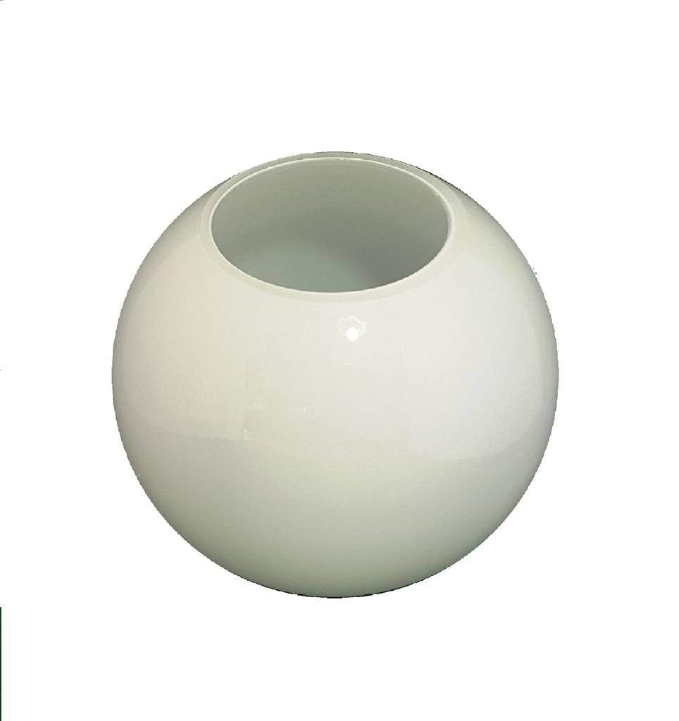 12.5cm Durchmesser Weiß Glas Globe Lampenschirme mit Kein Halsband. Umfang: 31 cm, Hals: 6.5 cm. (Kugel, Kreis, Kugel, Licht, Ersatz) Hals: 6.5 cm. (Kugel Glass Technology Co.