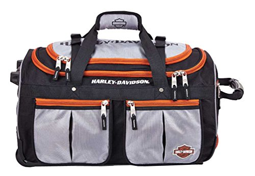 Harley Davidson 21'' Wheeling Carry-on, Silver/Black by Harley-Davidson