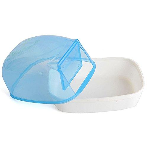 (Wildgirl Small Pet Plastic Bathroom Hamster Bath Sand Room Sauna Bathtub (Blue))