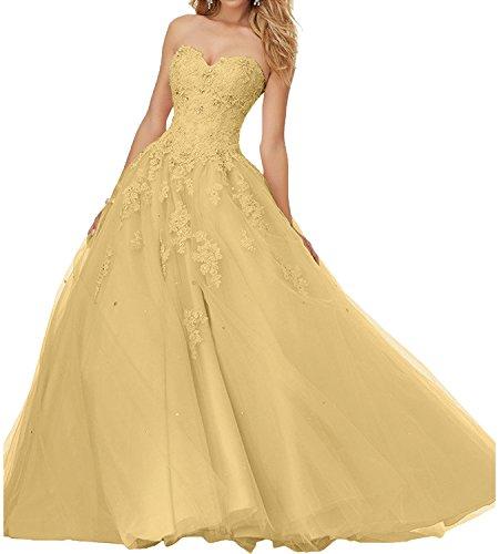 Abiballkleider Prinzess Ballkleider Braut Linie Gold Hochwertig Abendkleider Lang Rosa mia La Promkleider A RIvqan6