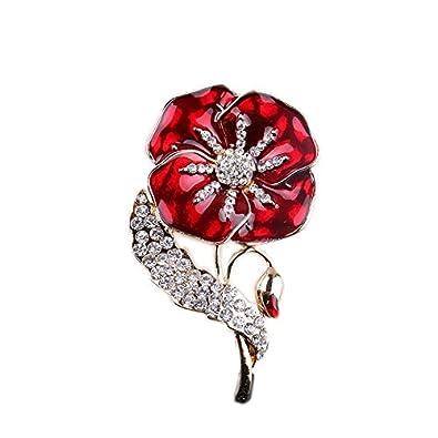 Luxury shiny red poppy flower symbolic brooch poppies remembrance luxury shiny red poppy flower symbolic brooch poppies remembrance day pin br399 mightylinksfo