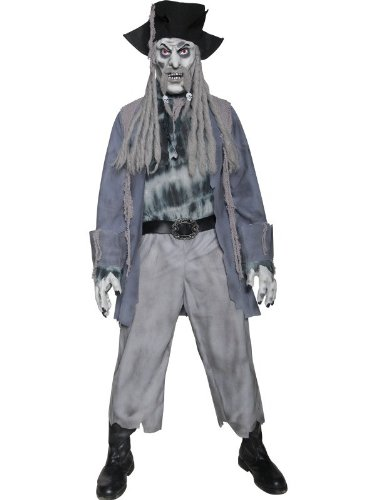 Zombie Ghost Pirate Costume Mens Size 42-44 L (Halloween)