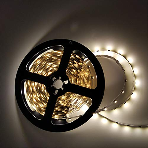 BGFHDSD 12V 5M Led Strip 3528 Non Waterproof LED Strip 3528 5M 300 LED SMD Flexible Light RGB Adhesive Strips for Car Counter Tiras Luz Green by BGFHDSD