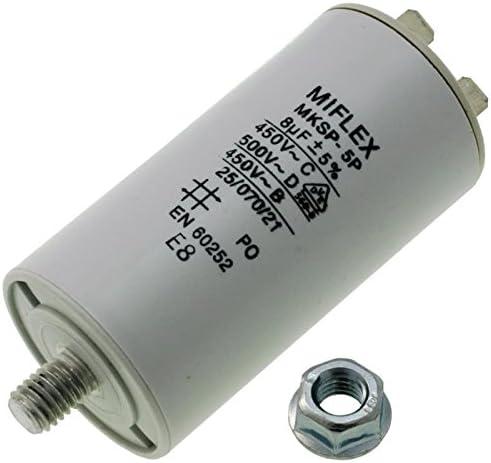 Condensateur de démarrage 7μF 7uF moteur Sèche linge
