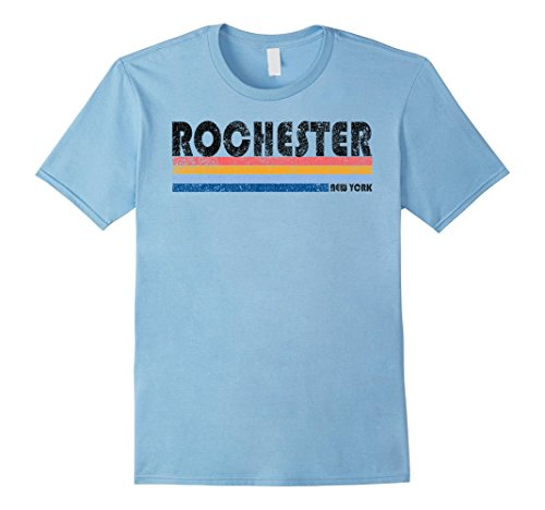 Mens Vintage 1980s Style Rochester New York T Shirt Medium Baby (New York Style Graphic Tee)