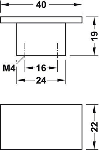 Modell H1102 Gedotec Schrankgriff eckig M/öbelgriff vernickelt matt Schubladengriff K/üche B/ügelgriff aus Metall f/ür M/öbel /& Kommoden 1 St/ück mit Schrauben
