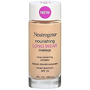 Neutrogena Nourishing Long Wear Liquid Makeup Foundation With Sunscreen, 10 Classic Ivory, 1 Fl. Oz.