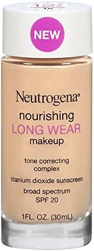 Neutrogena Nourishing Long Wear Liquid Makeup Broad Spectrum SPF 20, 10 Classic Ivory, 1 Fl. Oz