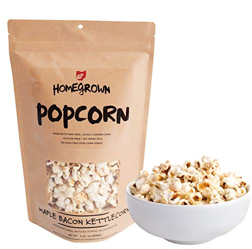 (Homegrown Popcorn | Made with GMO FREE Corn & Popped with Coconut Oil | Handmade Small Batches, Gluten Free & No Trans Fats (Smoky Maple)