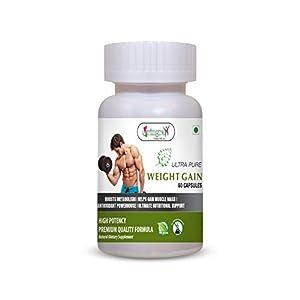 Vringra Weight Gain Capsules | Weight Gainer | Herbal Capsules | Weight Gain Powder Capsules For Men & Women