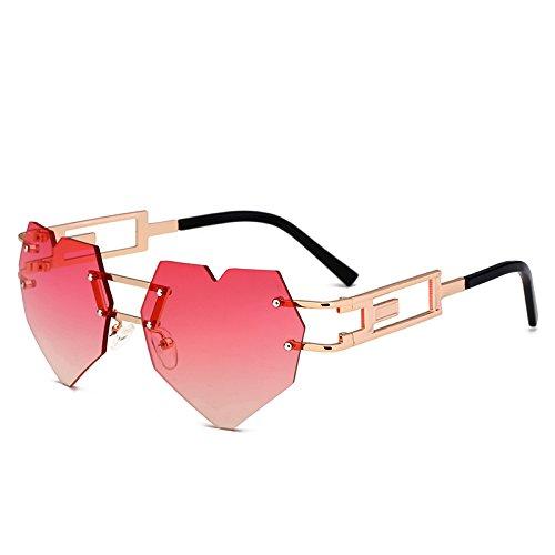 Liebe KXLEB Forma Brille Frauen Einzigartige C4 Randlose Retro C1 Sonnenbrille OAqdA