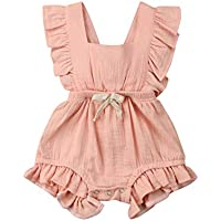 Newborn Baby Girl Clothes Ruffled Sleeve Romper Jumpsuit Bodysuit One Piece Outfits