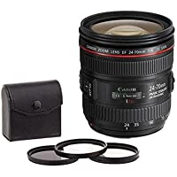 Canon EF-24-70mm f/4 IS USM Zoom Lens. USA. Value Kit with Accessories #6313B002