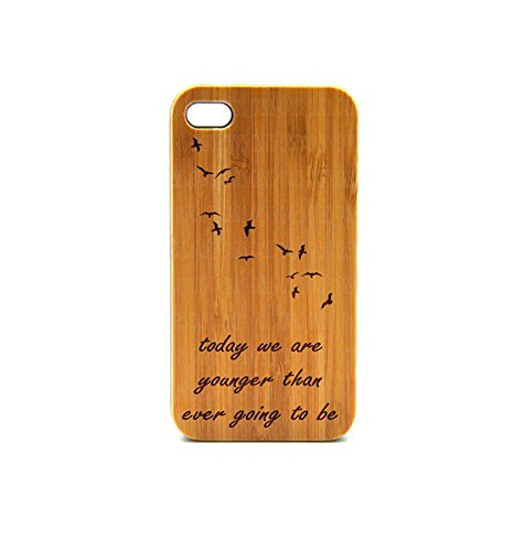 Krezy Case Real Wood iPhone 6 Case, quote iPhone 6 Case, eyes iPhone 6 Case, Wood iPhone Case,