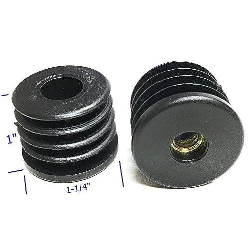 """4pcs Oajen caster socket furniture insert for 5//16/"""" 18 thread for 2/"""" OD tube"""