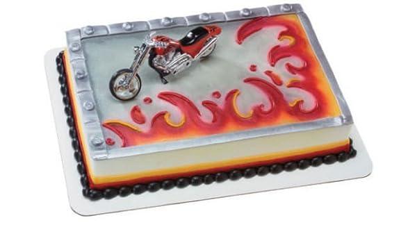Marvelous Amazon Com Cakedrake Motorcycle Harley Davidson Blue Silver Funny Birthday Cards Online Necthendildamsfinfo