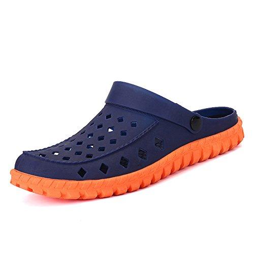 Azul Azul Zapatillas 8 medias Tamaño impermeables Agujero EU41 Sandalias Zapatillas Verano MAZHONG 5 Hombre Zapatillas Color CN42 UK7 vxw1ntZqT